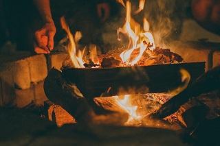 Feuer im Freien